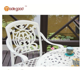 Blanc Jardin En Fonte D\'aluminium Chaise Salon De Jardin - Buy ...