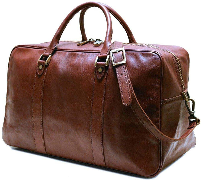 Floto Siena Trunk Duffel Bag in Brown