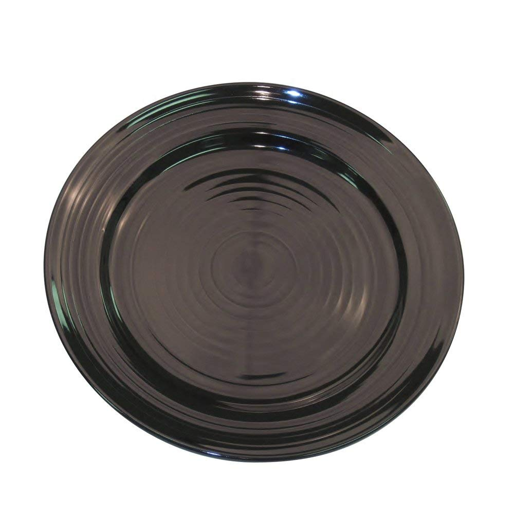 CAC China TG-9-BLK Tango Black Porcelain Round Plate, 9-7/8 by 9-7/8 by 1-1/4-Inch, 24-Pack