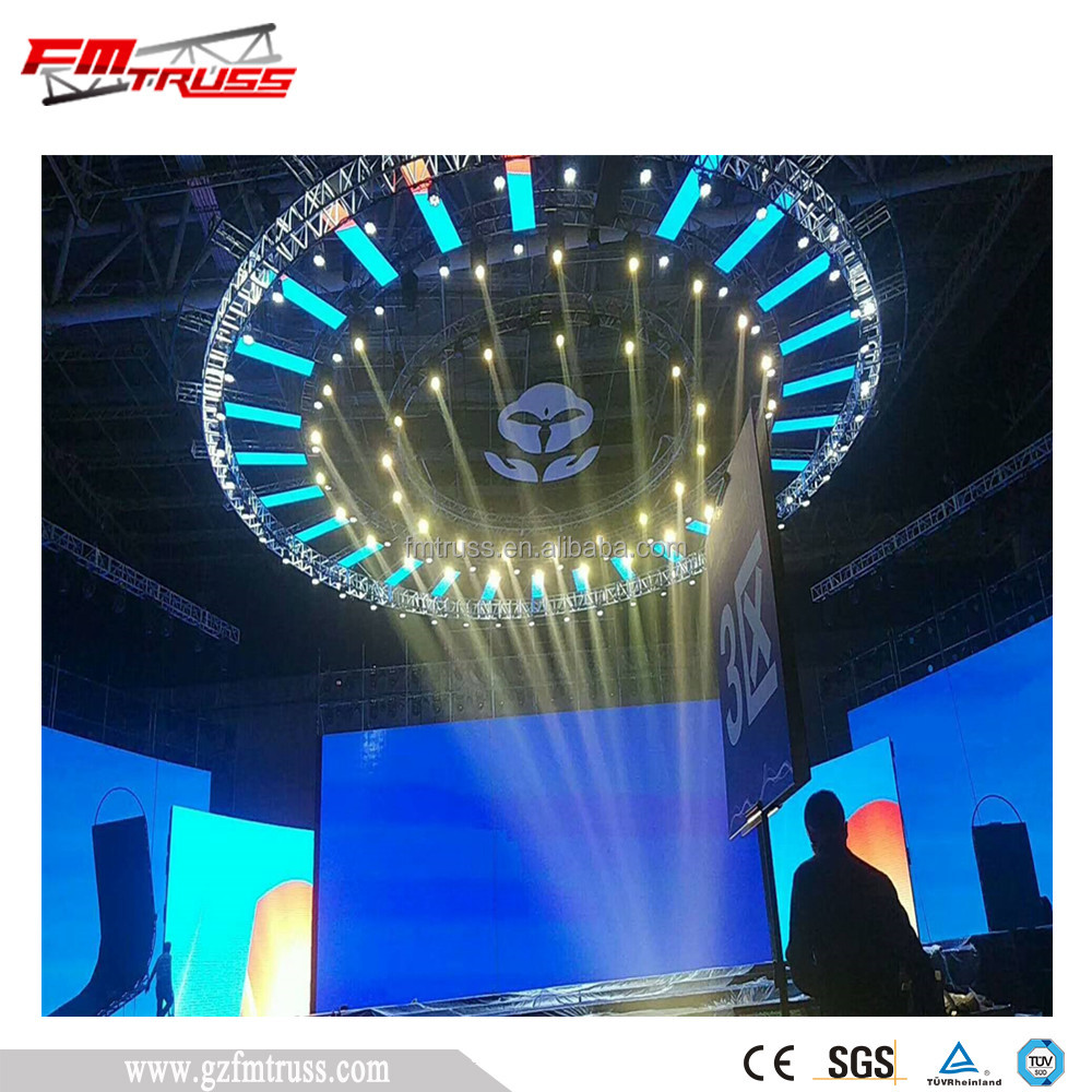 hotel indoor rotating lighting truss with colorful decoration