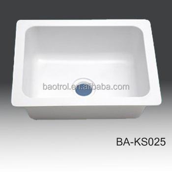 Kitchen Sink White Faux Marble