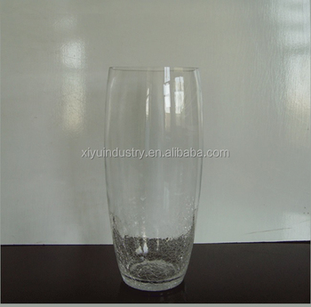 Half Cracked Glass Vase Buy Hand Made Half Cracked Glass Vase