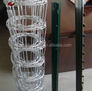 Adjustable Metal Steel Fence Support Post / Steel Wire Net Fence