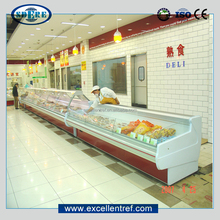 top open display refrigerator counter for meat