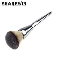 Very Big Beauty Powder Brush Blush Foundation Round Make Up Tool Large Cosmetics Aluminum Brushes Soft Face Makeup