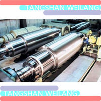 OEM high quality carbon steel cold rolling mill work roller forged stepped shaft