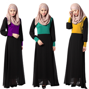 A3314 Islamic muslim long sleeve ladies maxi cotton abaya jilbab kaftan