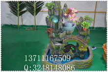 artificial sculpture potted / artificial lignt mountain for hotel decoration