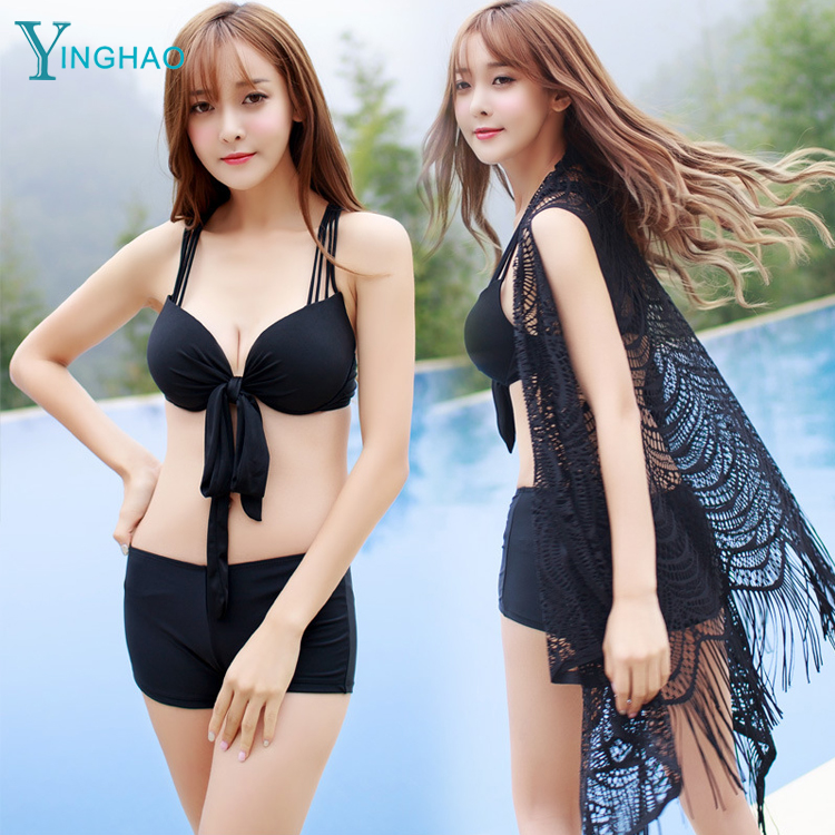 Foreign <strong>trade</strong> the original single bikini swimsuit female Korea three-piece women's swimwear flat angle was thin swimsuit