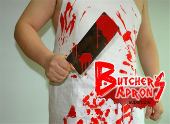 Ct-671 Creative Design Butcher's Apron With Blood Cool Apron 100 ...