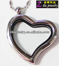 Hot sale heart high polished blank locket pendant