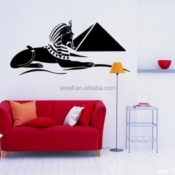 4082 Sphinx Wall Stickers India Quotes Wall Decals Cartoon Culture ...
