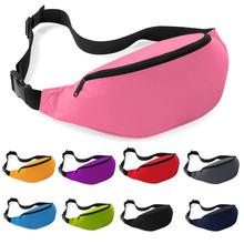 Unisex Waist Belt Bag Travel Sports Hiking Running Fanny Pack Black Zip Pouch Money Pouch Belt Waist Pack