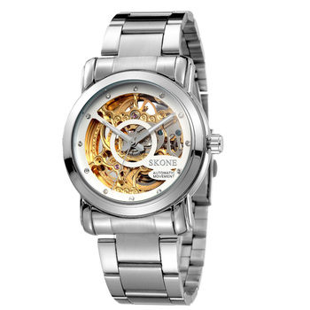 Water resistant stainless steel back automatic mechanical vogue men watch S80014