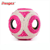 Hight quality cat toy ball,sisal ball cat toys,six holes sisal ball with low price