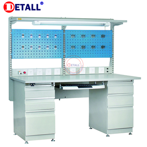 electric adjustable esd workbench anti-static workbench for garage with cabinet