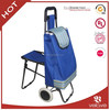 New foldable trolley shopping bag with chair