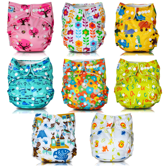 Babyland Super absorbency Polar Fleece Inner Nappy Changing Cloth Diapers with Baby Nappies for 8 30lbs