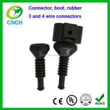3 and 4 wire connector boot rubber for Audi VW 4 way connectors