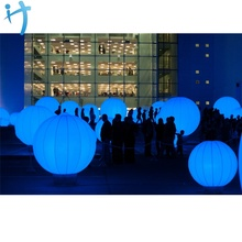 Aoqile dekoration Aufblasbare ball mit led-licht ballon