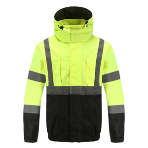 custom reflective jacket high visibility workwear jacket