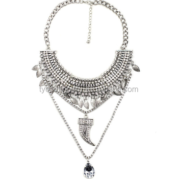 Silver pendant trendy western long chain alloy raw material necklace silver pendant trendy western long chain alloy raw material necklace aloadofball Choice Image