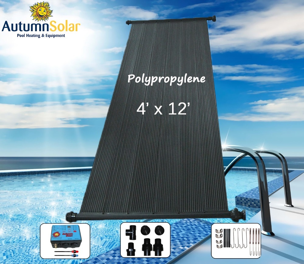 Rigid Polypropylene swimming pool solar collector water heater