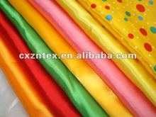 poly satin fabric of various colours