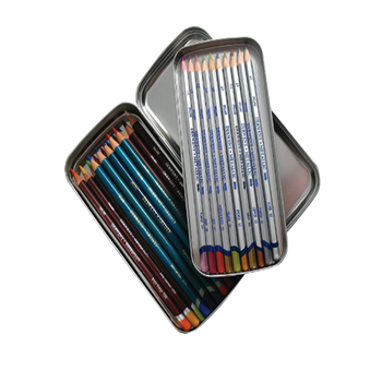 Fashion stationary metal tin pencil case for school metal tin pencil box