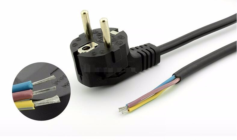 Type Fcc Flat Conductor Cable : European power cord vde ac pin