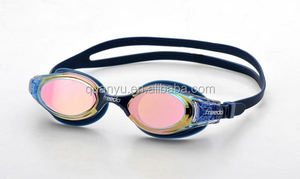 Waterproof new packed mirrored optical swimming goggles