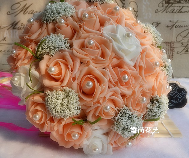 What Are Cheap Flowers For Weddings: Cheap Wedding Bride Bouquet Artificial Silk Flowers