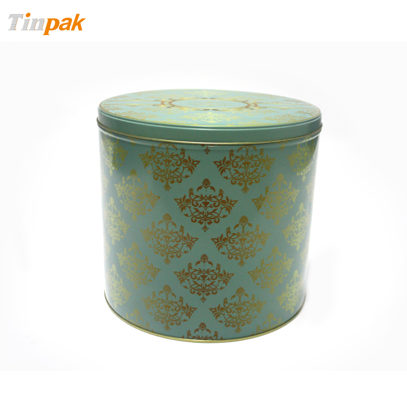 Premium Round Tin box with Step lid for Christmas gifts packing