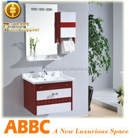 bathroom cabinet with towel rack and mirror A-176
