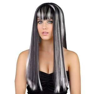 Adult Ladies Dead Gorgeous Gothic Witch Vampire Wig Fancy Dress Halloween BP5164
