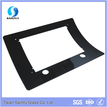 China manufacturer 4mm 5mm 6mm bent clear tempered glass