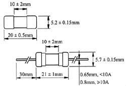 5x20mm gốm ống cầu chì nhanh chóng hành động 250V 500mA 1a 1. 25a 1. 5a 2a 2. 5a 3a 3. 15a 3.5a 6.3A 7a 10a ce ul ROHS kls5-1039