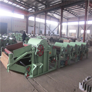 Factory Price Four Roller Denim Rag Recycling Machine Line