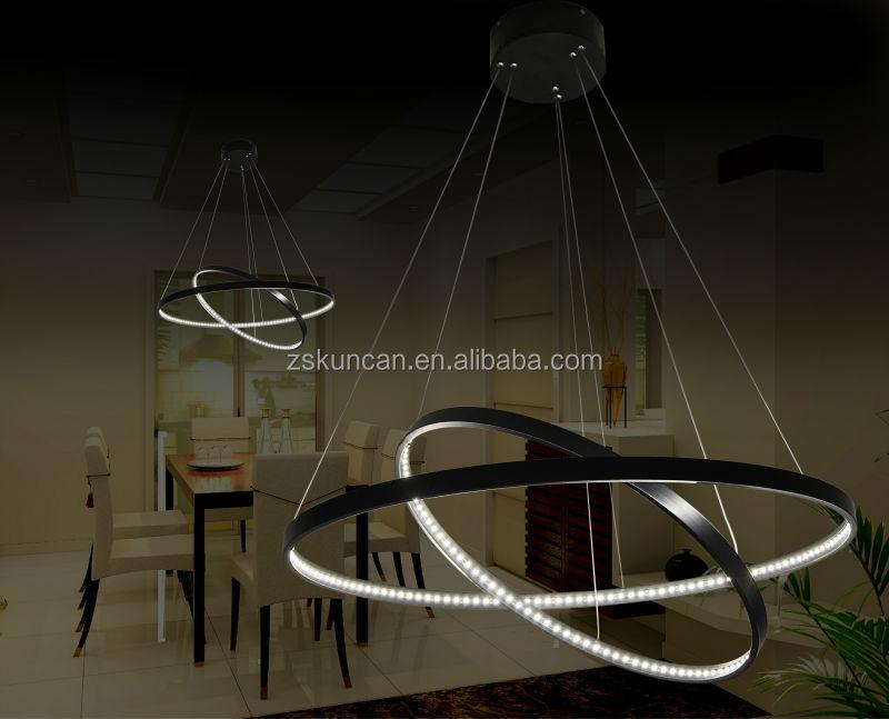 Nero due anello led lampadario di design francese buy due