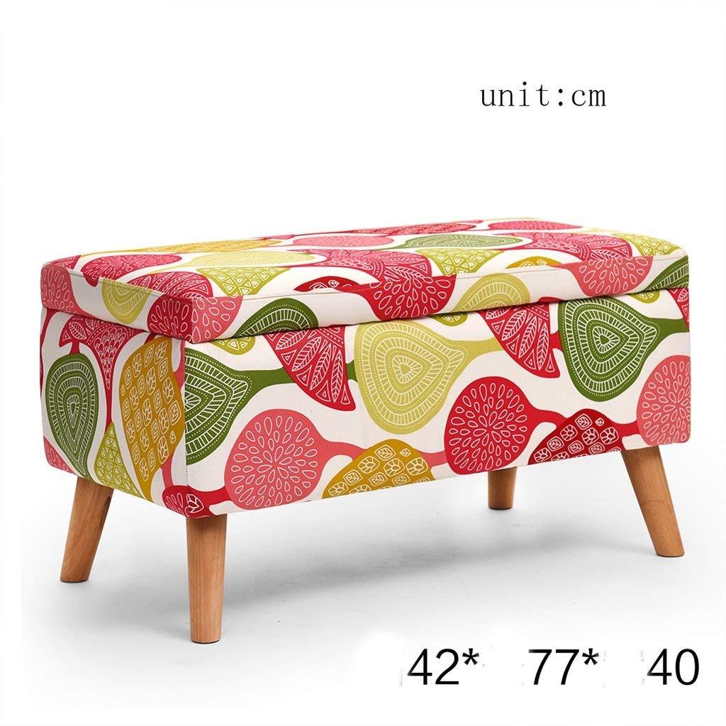 AIDELAI Stool chair Solid wood Stool Change shoe stool Storage stool Sofa stool Tea table stool Cloth Dressing stool Storage stool Saddle Seat