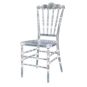 Wedding Event acrylic Crystal Clear Plastic Resin napoleon king throne chair rental YC-P88
