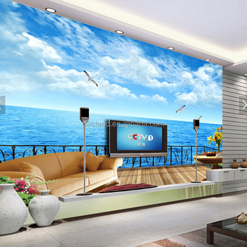 Sea Gull Fly Above The Sea 3d Wall Mural For Theme Hotel Room Decoration Buy Customized 3d Wall Mura Landscape View Wall Mural For Hotel Drawing