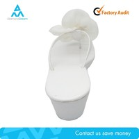 white flip flop wedge shoe , white platform flip flop with heel