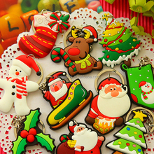 cheap customized soft pvc souvenir christmas fridge magnet