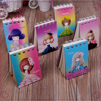 Gift stationery school supplies 2017 korean new fashion cartoon design mini size paper diary notebook