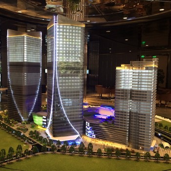 High rise commercial plaza building architectural model for Architecture models for sale
