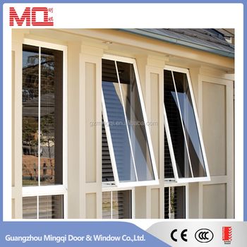 Outward opening aluminum window, aluminum glass window for house