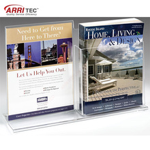 Acrylic Advertising Paper With Brochure Pocket Holder