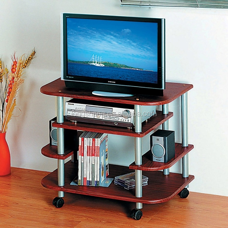 Mobile brown 4 tiers tv holders stands of home furniture