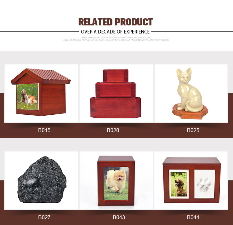 OSB060 mixed color popular resin sleeping cat urns